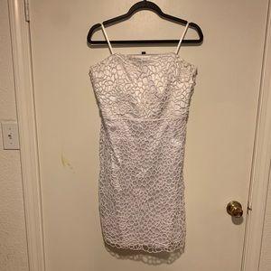 Ann Taylor white strapless lace dress